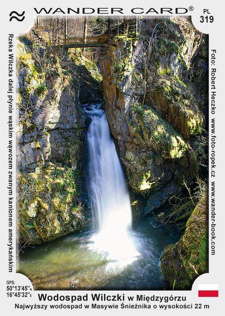 Międzygórze - vodopád na řece Wilczce (Wodospad Wilczki)